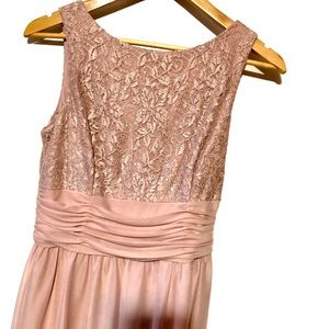 Nwt elegant shimmer formal dress Blush
